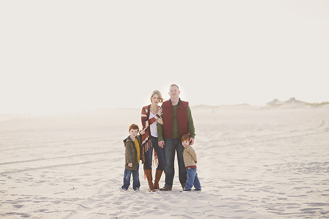 natural rustic family on the beach