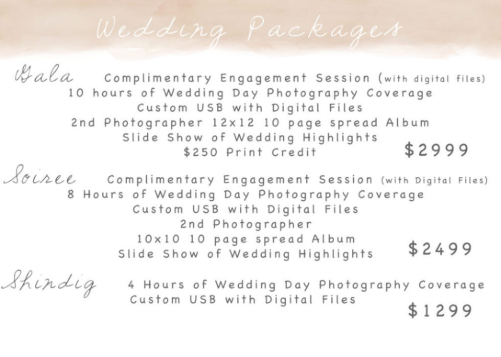 Wedding Day packages