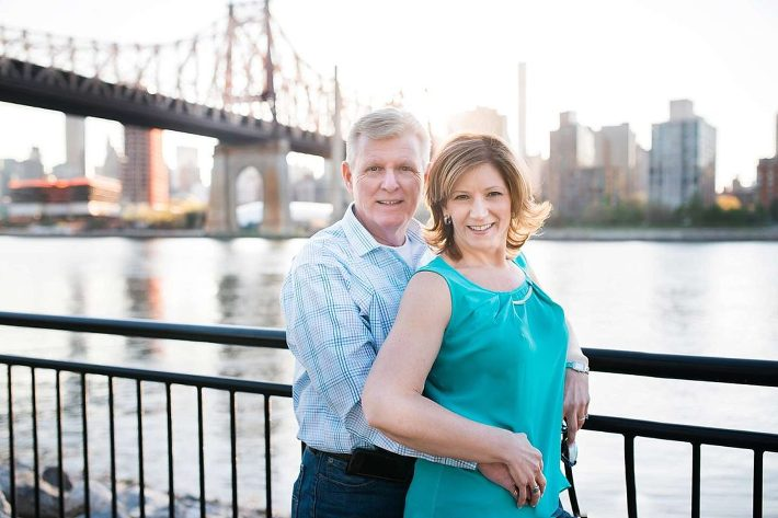 59th st bridge couple portraits