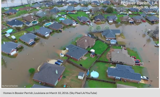 Homes under water in Louisiana