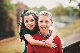 Long Island Family Photographer Oceanside brother and sister