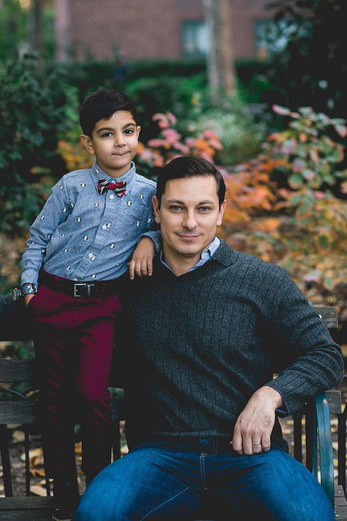 New York City Family Photographer dapper Father and Son