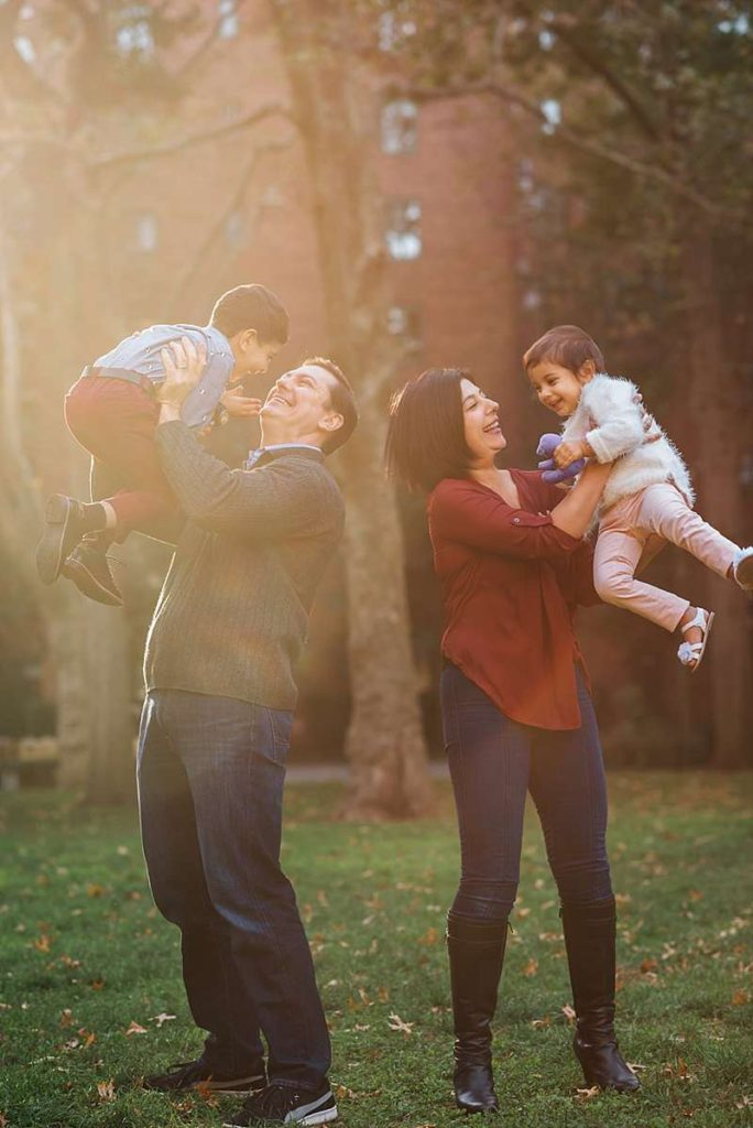 New York City Family Photographer sun flare