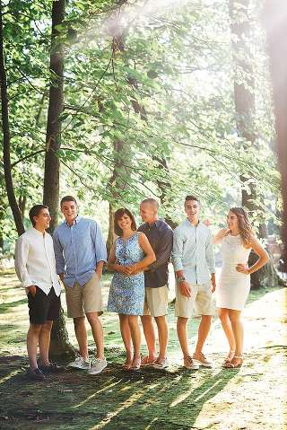 Millstone NJ Family Photographer trees in the background
