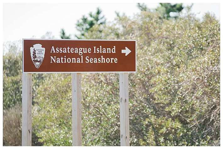 Assateague National Seashore Travel Photography welcome sign