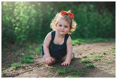 Long Island Family Photographer toddler backlight