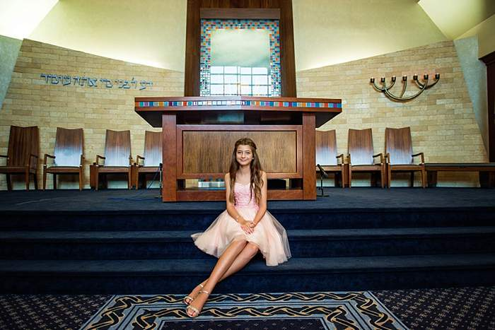 Long Island Bat Mitzvah Photos temple avodah bima photographer