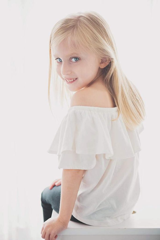 kids head shots Long Island five year old