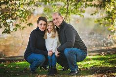 Long Island Family Photographer family of three pose
