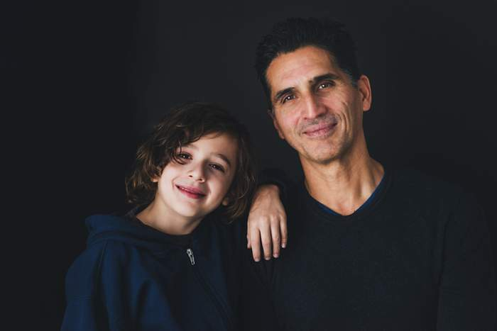 South Shore Studio Portraits New York dad and son