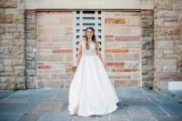 Long Beach Sweet 16 cream sparkly dress