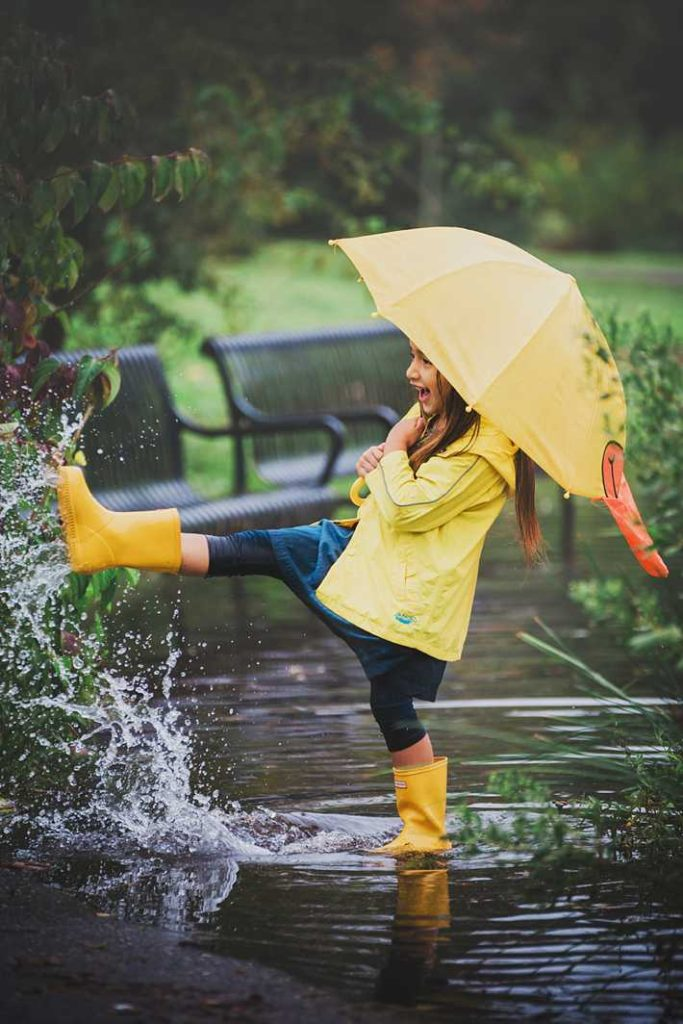 Long Island Child Photographer yellow rain coat