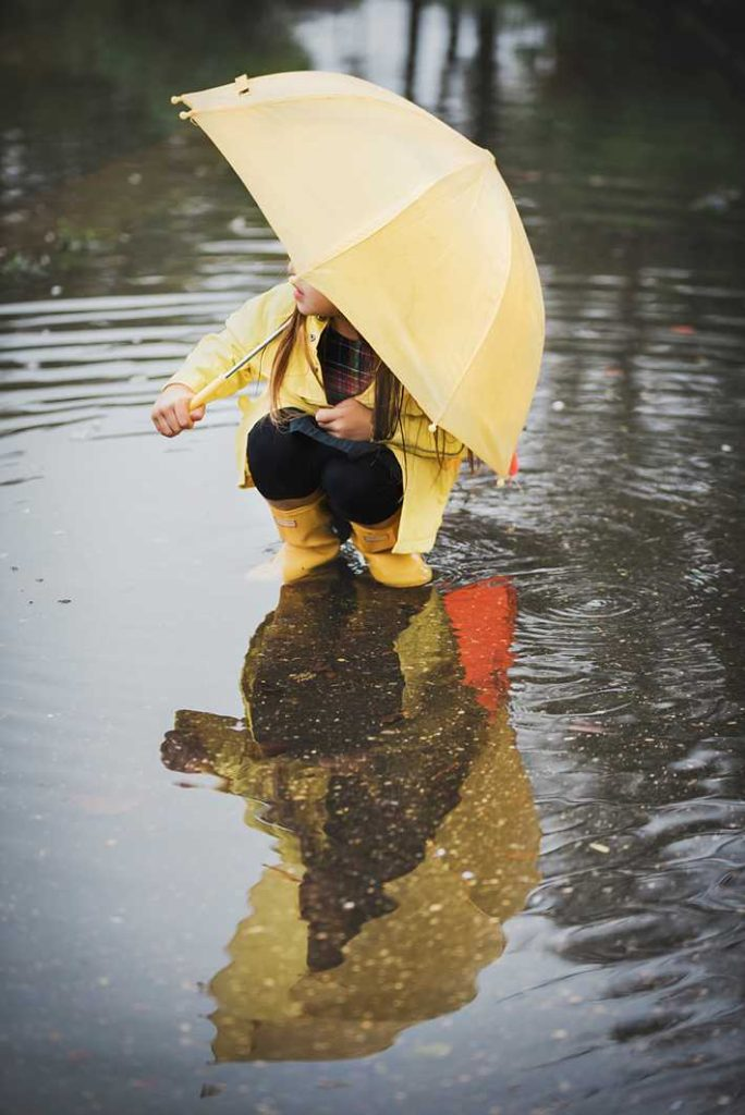 Long Island Child Photographer yellow umbrella