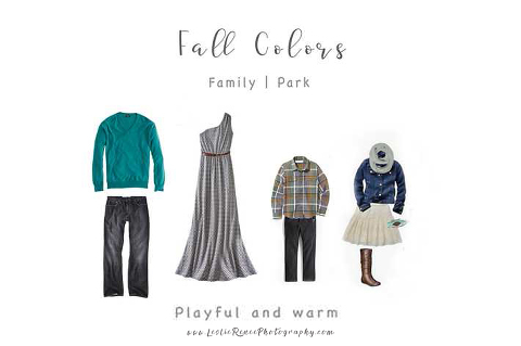 Fall What to Wear Boards family of four
