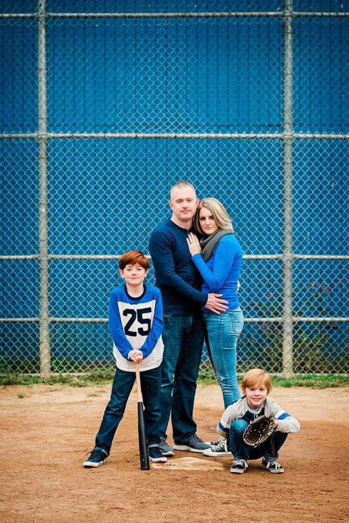 Long Island themed Family Photographer baseball