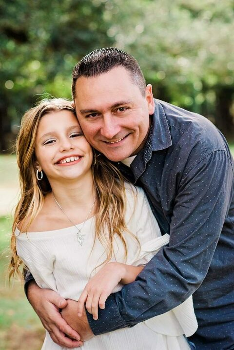Long Island Family Photos at Park dad and daughter portrait