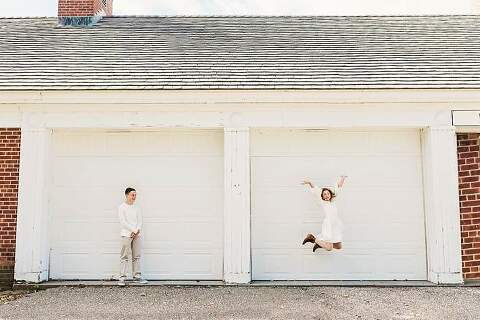 Long Island Family Photos at Park using architecture