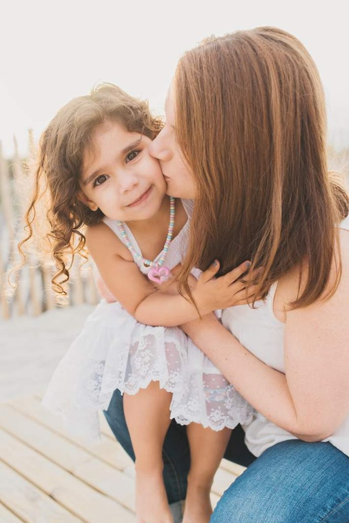 Long Island and New York Portrait Photography mommy kisses