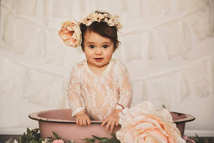 Baby Milk Bath Long Island flower crown