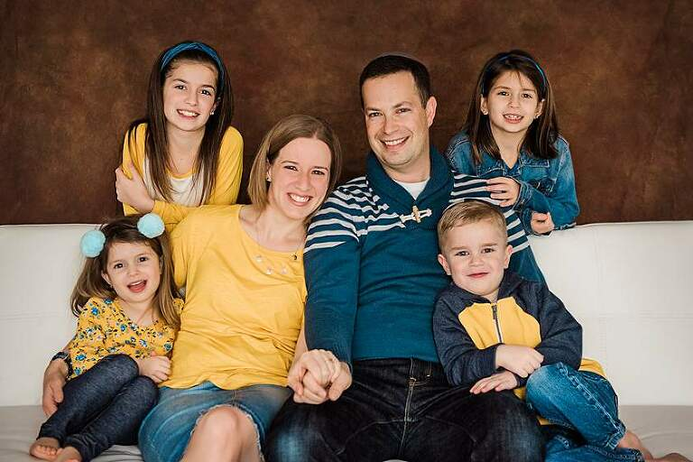 Long Island Studio Photographer yellows and blue