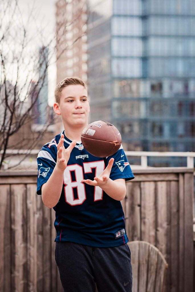 Manhattan Bar Mitzvah Portraits football theme
