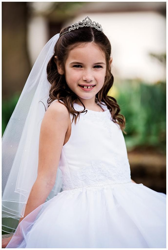 Long Island Communion Photography white dress