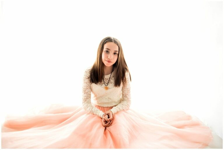 Bat Mitzvah Portrait Session backlit