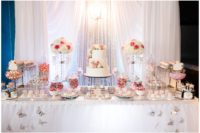 Bridal Shower Revel Garden City dessert table