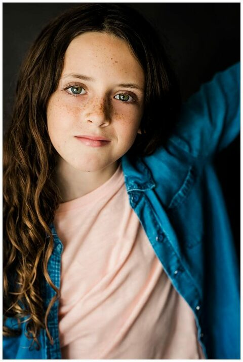 Long Island kids headshots freckles